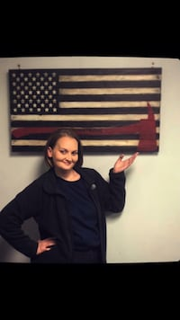 Handmade to order customized flag firefighter pride also for police and other heroes!  Glen Allen, 23060