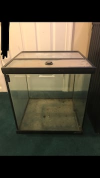 black framed clear glass fish tank Sterling, 20164
