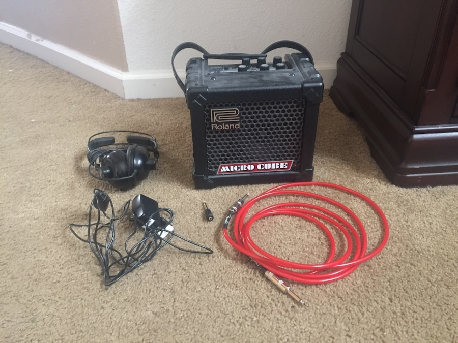used guitar amp headphones headphone jack to connect headphones to amp cord to plug into the. Black Bedroom Furniture Sets. Home Design Ideas