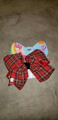 JoJo Siwa Signature Bow - Gingham Christmas Pattern