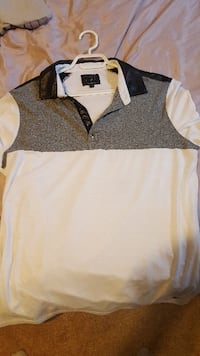 Guess dress shirt leather collar.. size LG fits like a M Barrie