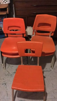 Orange toddlers chairs
