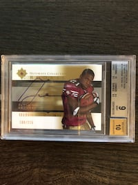 Frank Gore Autographed graded Rookie Card