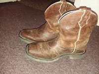 pair of brown leather cowboy boots Terre Haute, 47802