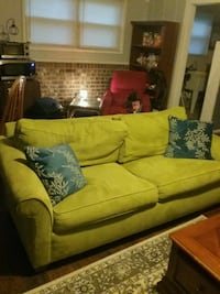 Green sleeper sofa with two recliners 837 mi