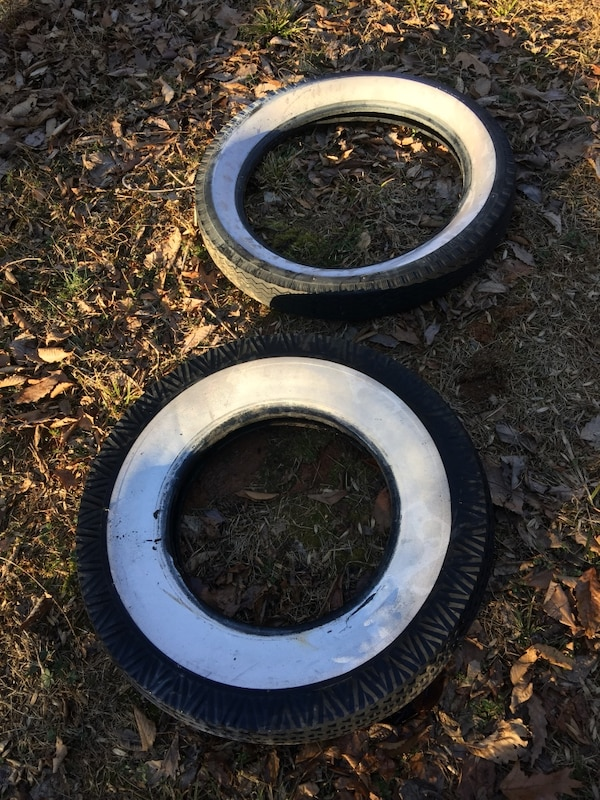 Two old tires.  Free