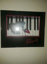 piano picture in frame
