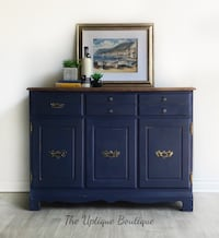 Modern farmhouse solid wood sideboard buffet credenza coffee Station cabinet Oro-Medonte, L0L