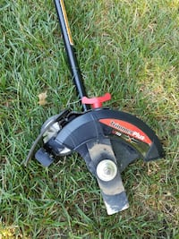black and red electric string trimmer