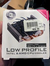 Evercool low profile cpu air cooler Madison Heights, 48071