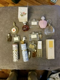 Assorted perfume bottles
