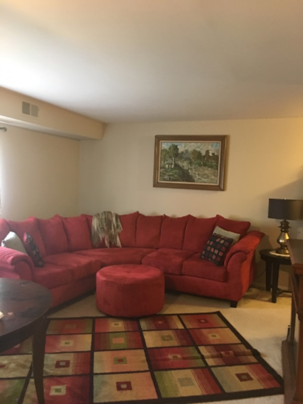 Sectional and Ottoman for Sale in Excellent Shape!