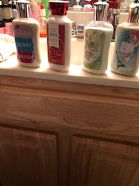Four bath and body lotions