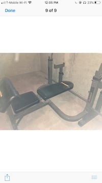 black and gray bench press Capitol Heights, 20743