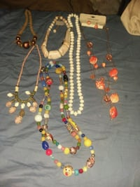 6 different style necklesses