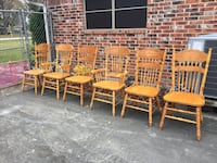 Solid wood dining chairs  Houston, 77060