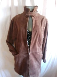 Vintage Brown suede leather jacket fits size small medium Lancaster, 93535