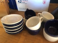 Cappuccino cups and saucers. Service of 8. Martinsburg, 25403