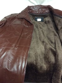 $55 Brand New Genuine Leather Jacket Size L And Cap L In Package Austin, 78753