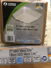 "3X Lithonia  Versi Lite 7""   9-Watt Textured White Integrated LED"