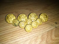 Gold WWII military buttons