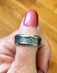 Sterling Silver Overlay Celtic Ring Sz 9 or Sz 10 Greenville, 29617