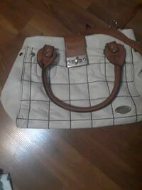 white and brown leather tote bag Windsor, N8W 5S4