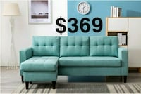 Teal Reversible Sectional