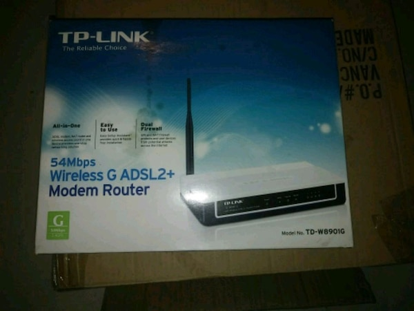 DSL modem and router combo