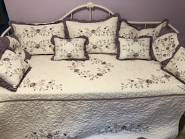 Daybed cover, shams and pillows