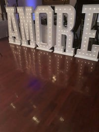 AMORE Marquee Letters $250 rental -PROMO