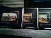 two brown wooden framed paintings Bakersfield, 93306