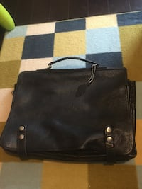 Roots vintage leather briefcase