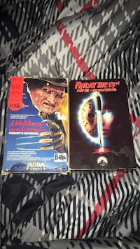 1980 friday the 13th and nightmare on elm street. rare mini release vhs, good condition