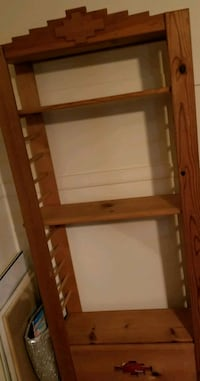 Solid wood  shelf 72H x32Wx 12 Tomball