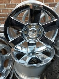 chrome 6-spoke auto wheel set Baltimore, 21205