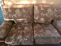 brown and gray floral fabric loveseat San Antonio, 78247