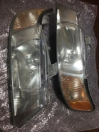 Pair of car headlights and taillights