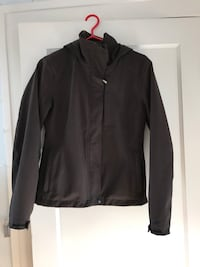 Winter black zip up jacket size S