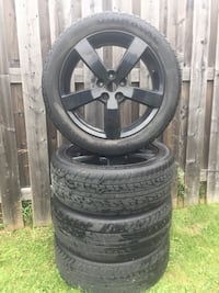 """18"""" BLACK RIMS with tires St Catharines, L2M 5E7"""