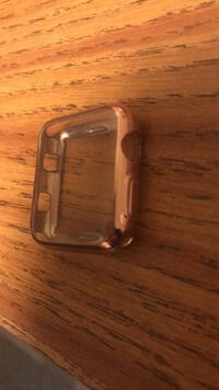 42mm rose gold silicone Apple Watch cover.  Council Bluffs