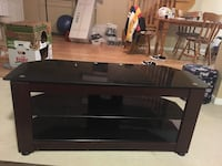 3 shelf glass tv stand  Newmarket