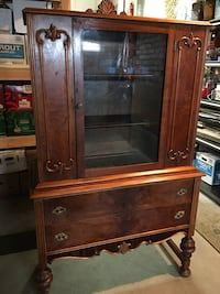 brown wooden framed glass display cabinet Mountain View, 94040
