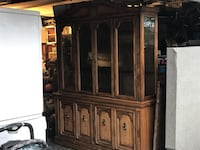 oak and maple inlay dining set EDMONTON