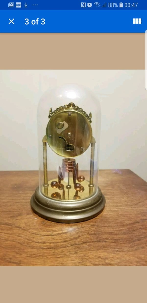 Vintage Schmid-Schlenker Clock with Dome d5d35cdd-c8c0-4a09-8cac-b116a53cceb7