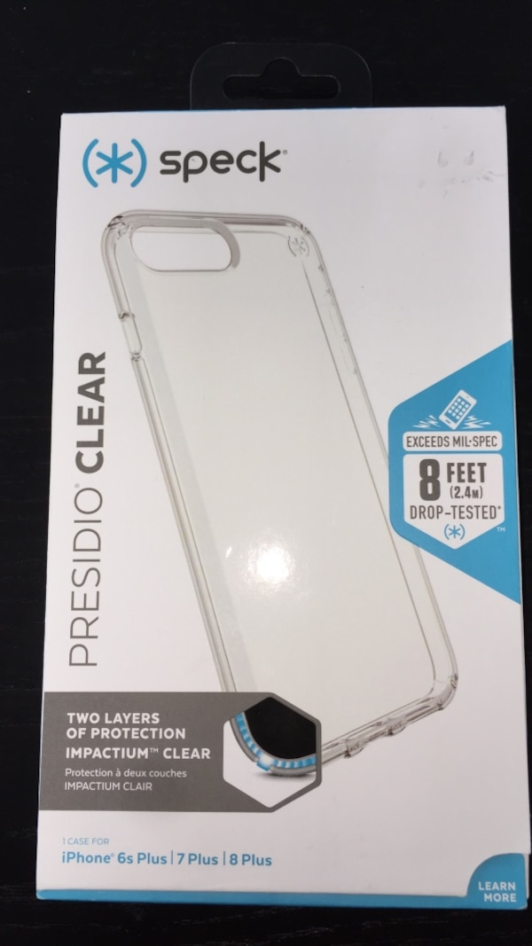 buy online ba878 4eec4 SPECK Presidio Clear Case for iPhone 8 Plus, 7 Plus, 6s Plus. Brand new.  Never used, in it's box
