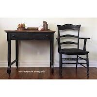 Antique shabby chic empire desk and armchair Mississauga, L5G 2K4