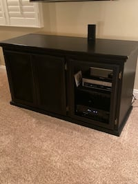 Beautiful wood entertainment center