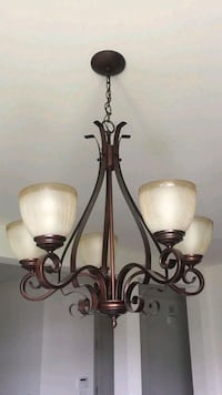black metal framed uplight chandelier Woodbridge, 22192
