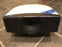 """Sony VPL-HS20 1080i projector with 100"""" fixed frame screen"""